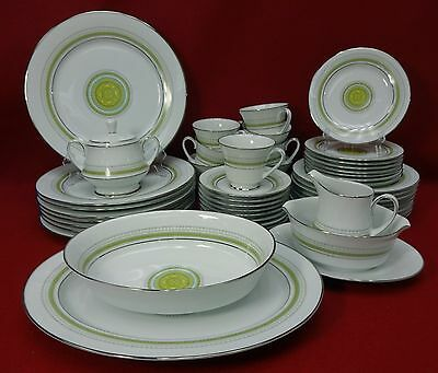NORITAKE china WALTZ 2027 pattern 46-piece SET SERVICE for EIGHT (8) + 5 Serving