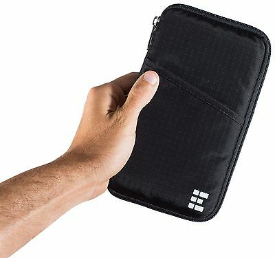 Travel Wallet & Family Passport Holder w/ RFID Blocking- Document Organizer C...