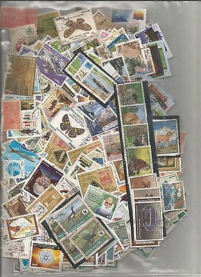 Nepal kiloware used off paper stamps 1074 pieces