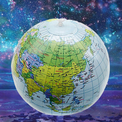 New Globe Inflate Inflatable Atlas World Map Gegraphy Beach Ball Education Toy