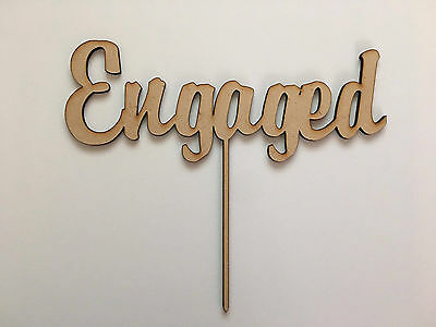 Engaged | Cake Topper {Brody Font}