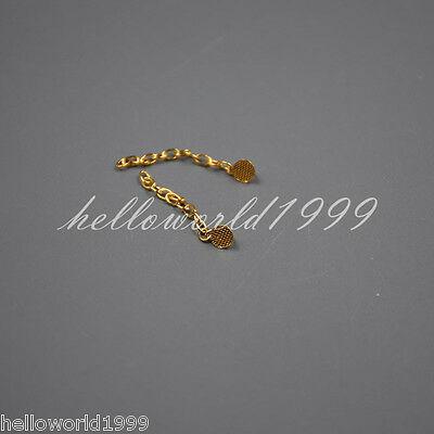 2 Pcs Sino Dental Group Orthodontic Button Chain Golden Lingual Traction