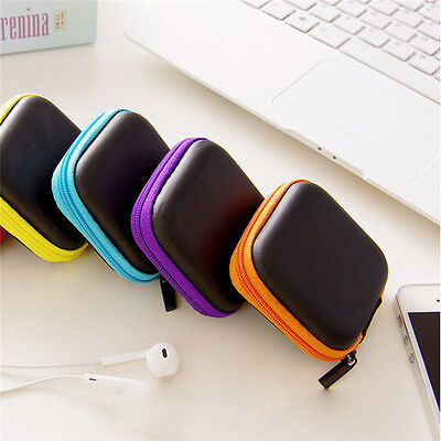 Portable Mini Round Hard Storage Case Bag for Earphone Headphone SD TF Cards~HOT