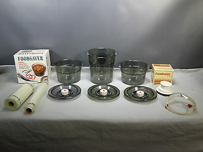 Lot of 3 Tilia Foodsaver Vacuum Containers 2, 3.5 Qt. Canister, Jar Sealer, Bags