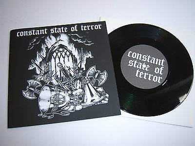 """CONSTANT STATE OF TERROR Liberation EP 7"""" UK 2007 Inflammable Material BURN011"""