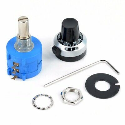 10K Ohm 10 Turn Adjustable Potentiometer 3590S-2-103L +Counting Dial Rotary Knob