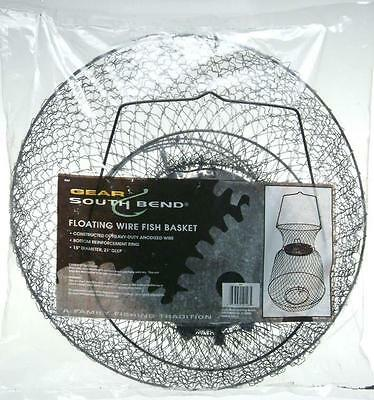 """South Bend Floating Wire Fish Basket 15""""x 21"""" - Bottom Spring Loaded Trap Doors"""