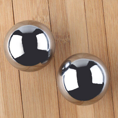 Chinese Health Exercise Baoding Balls Steel Stress Relief Chrome 2pcs