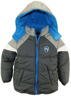 Ixtreme Little Boys Chevron Quilted Coat Expedition Hooded Winter Puffer Jacket