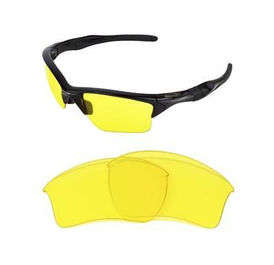 New Replacement Night Vision Yellow Xl Lens 4 Oakley Half Jacket 2.0 Sunglasses