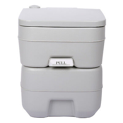 5 Gallon 20L WC Toilet Flush Camping Porta Travel Outdoor Hiking Potty S*