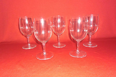 Antique Victorian Ribbed Glass Pan Wine Glasses Set Of 5