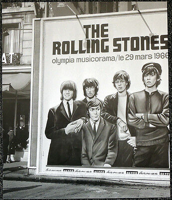 The Rolling Stones Poster Page 1966 Paris Olympia Concert Billboard . Y10