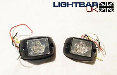 PAIR OF Covert Recovery Emergency Flashing Amber LED Fend Off Light Heads