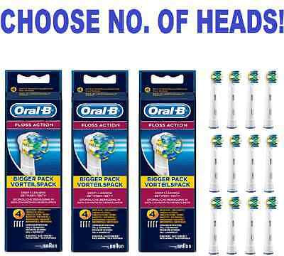 Genuine Braun Oral-B FLOSS ACTION electric toothbrush replacement Brush Heads