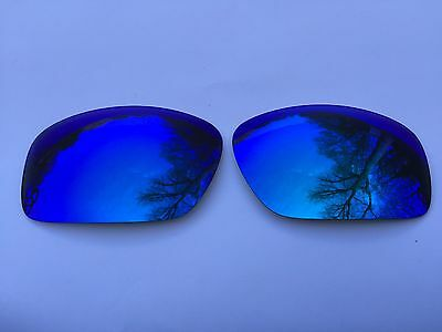 Polarized Ice Blue Mirrored Replacement Oakley Scalpel Lenses