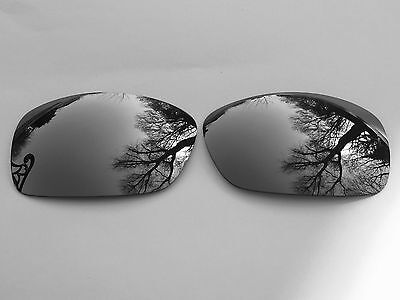 Engraved Polarized Chrome Silver Mirrored Replacement Oakley Hijinx Lenses