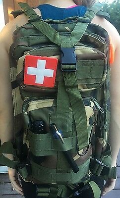 Stocked Prepper Medical First Aid Kit. First Responder Medic Refill Kit Inluded