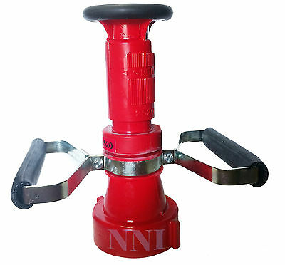 """2-1/2"""" NST FIRE HOSE COMBINATION FOG NOZZLE with HANDLES -150GPM"""