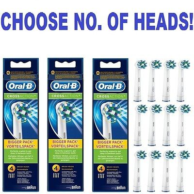Braun ORAL-B genuine CROSS ACTION electric toothbrush replacement Brush Heads