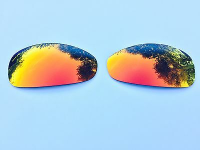 New Polarized Fire Red Custom Mirrored Replacement Oakley Juliet Lenses