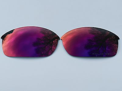 Engraved Polarized Blue Red Mirrored Replacement Oakley Flak Jacket Lenses