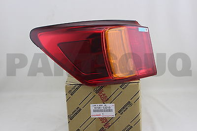 8156153210 Genuine Toyota LENS & BODY, REAR COMBINATION LAMP, LH 81561-53210