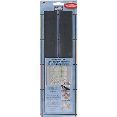Gallery Glass Instant Lead Lines 12 Inch 72/Pkg-Black 1/8 Inch Thi 028995166907