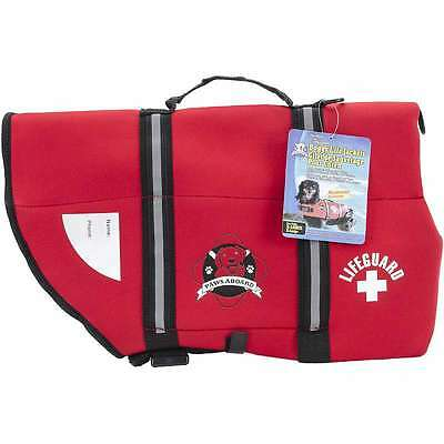 Paws Aboard Neoprene Doggy Life Jacket Extra Large-Red 187277000572
