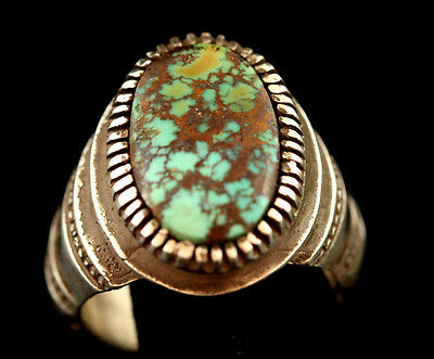 Vintage Persian Turquoise  Sterling Silver Ring, Exceptional CUSTOM HAND MADE!!!
