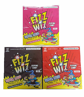Fizz Wiz, Retro Sweets, Popping Candy 1,5,15,25,50, Free Delivery