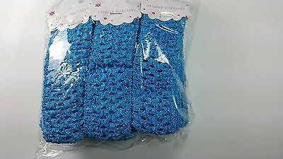 Wholesale Girls Baby Crochet Headband With 1.5 inch Acrylic( Blue) color