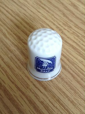 Vintage Porcelain Thimble Morton Salt E14