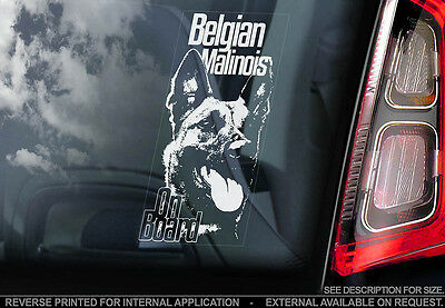 Belgian Malinois - Car Window Sticker - Dog Sign -V06