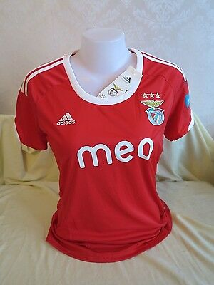 Benfica Football Shirt Home 2012 2013 Womens M 12/14 Adidas Red New