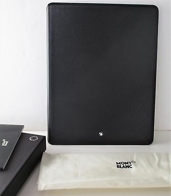 MONTBLANC LEATHER TABLET CASE FIR iPAD3 OR SIMILAR BLACK NEW