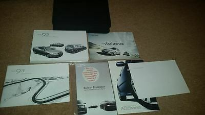 Saab 93 9-3 Saloon Estate Cabriolet Handbook Owners Manual Wallet 2003-2007