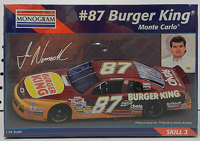 Burger King 87 Whopper Chevy Monte Carlo Monogram Model Kit