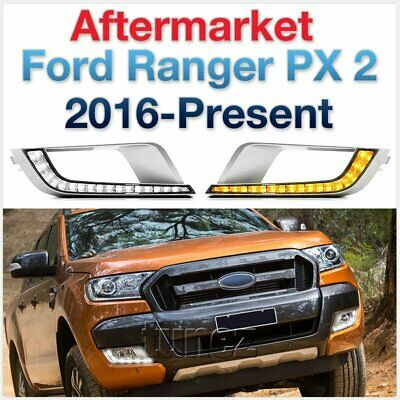 New LED Daytime Running Light DRL For Ford Ranger Wildtrak T6 MK2 2016 2017 2018