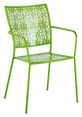 Alfresco Home Martini Stackable Bistro Chair, Key Lime, Set of 2