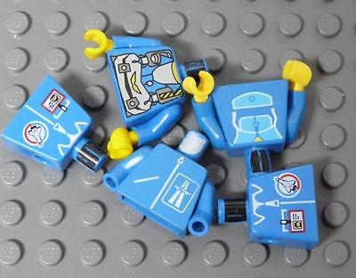 LEGO Minifig Spare Parts Blue Torso Town Miner Assorted x5PC
