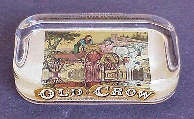 Vintage OLD CROW Advertising PAPERWEIGHT James Crows Ships Whiskey to Henry Clay