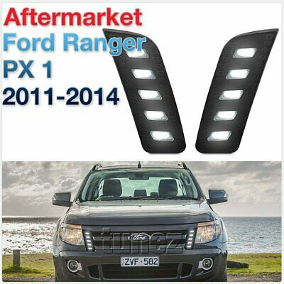 LED Daytime Running Light DRL Drive Lamps For Ford Ranger T6 MK 1 2013 2014 2015