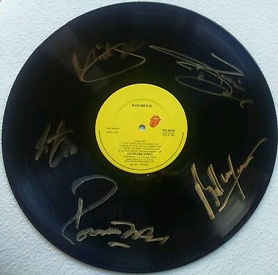 The Rolling Stones All Members Black And Blue Album Coa+Lp Signed Autographed