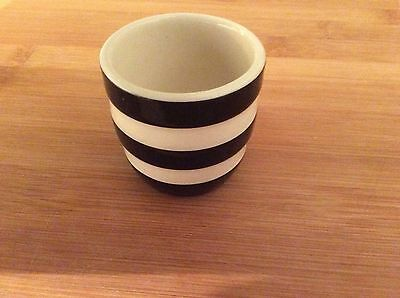 T G Green Cornishware Black and White Egg Cup Used