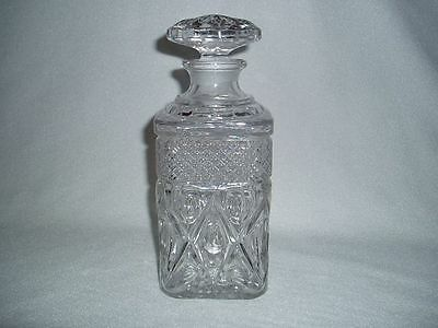 Imperial Cape Cod Crystal 160/212 Square Decanter & Stopper, FREE U.S. SHIPPING!