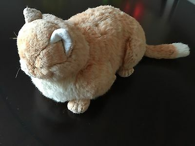 "Vintage 1985 Applause Avanti Tabby Sleeping Cat 14"" Plush Stuffed Animal"