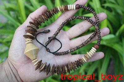 3 Large Handmade Islander Coconut Shell Wood Wooden Necklaces Wholesale
