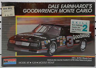 Dale Earnhardt Goodwrench Gm Parts 210 2900 Chevy Monte Carlo Monogram Model Kit