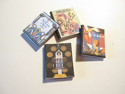 Dolls House Miniature  Set Of Art Deco Books Cc
